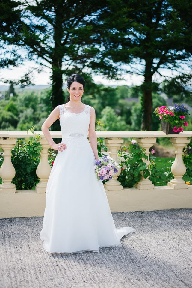 bride in dress, sligo wedding photography