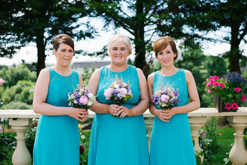 brides with flowers