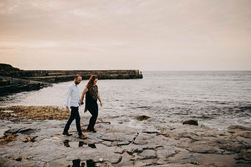 S&A engagement photography easky castle beach