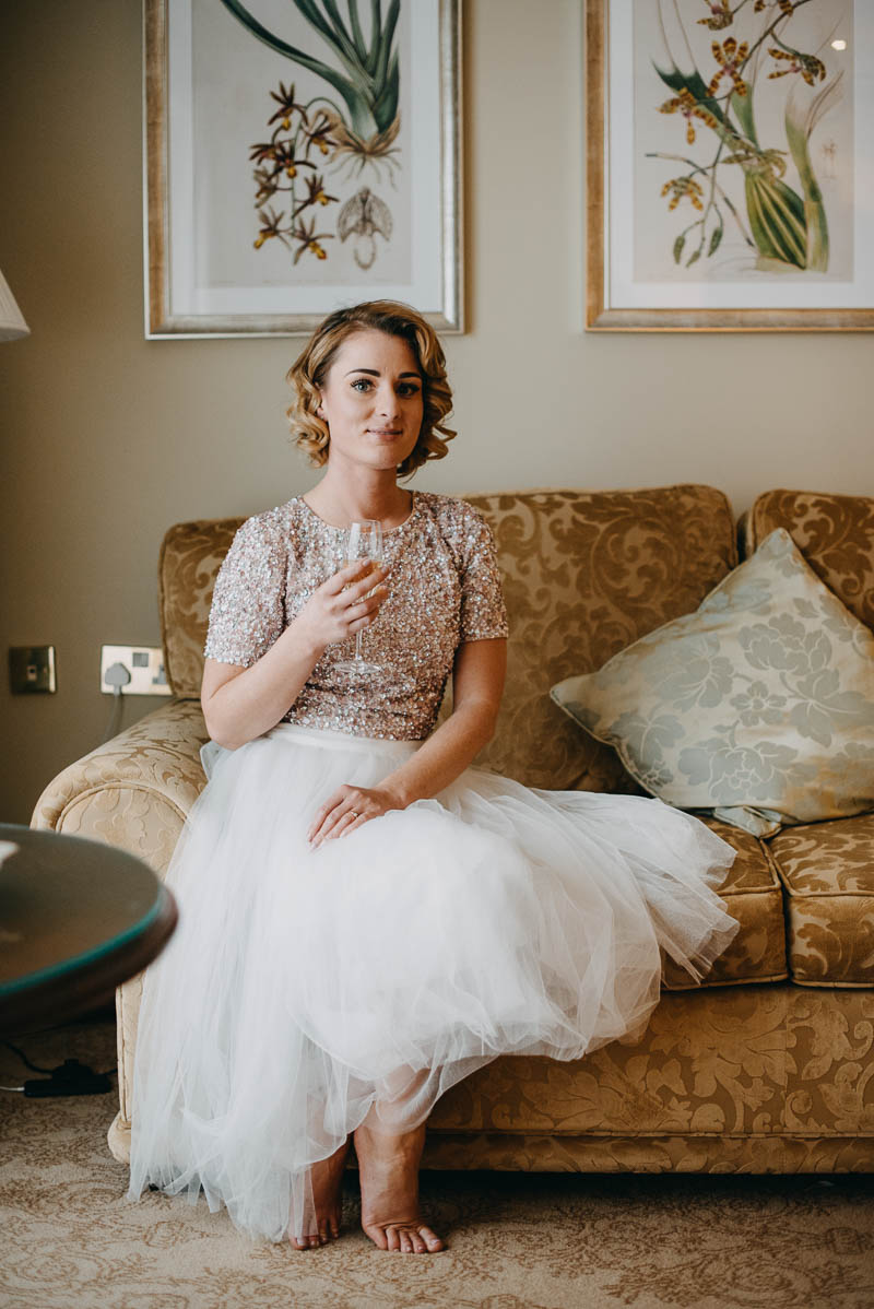 Bride's getting ready in Glenlo Abbey Hotel, Galway