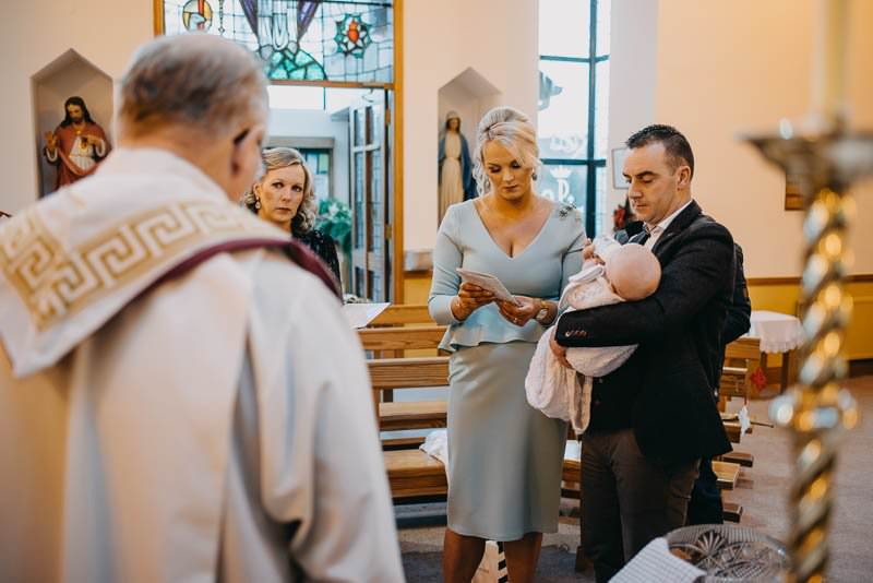 christening ceremony of little Olly