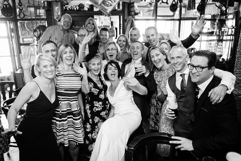 Group Photo in Harry's Pub in Rosses Point, Sligo
