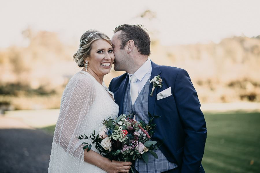 bride and groom wedding in markree castle