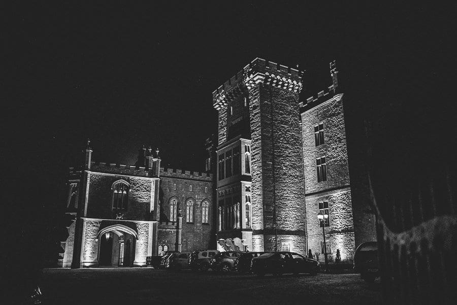 markree castle hotel in Sligo at night