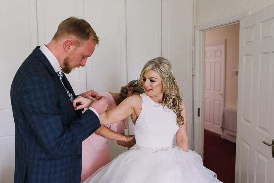 getting ready of bride