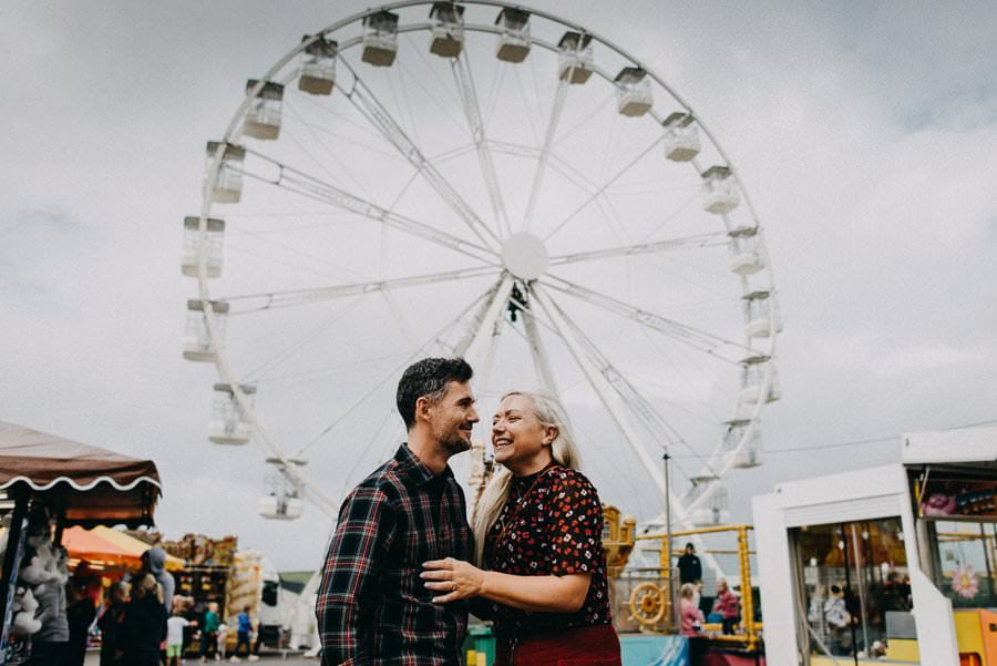 engagement session in bundoran adventure park
