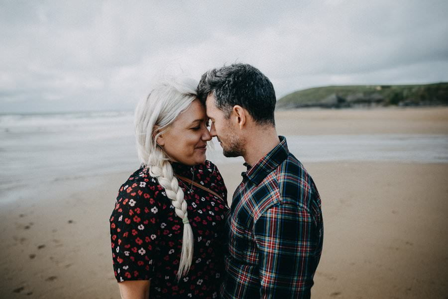 engagement session in bundoran beach ireland