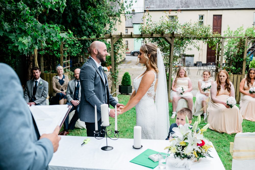 outdoor wedding at Cawley's Guesthouse