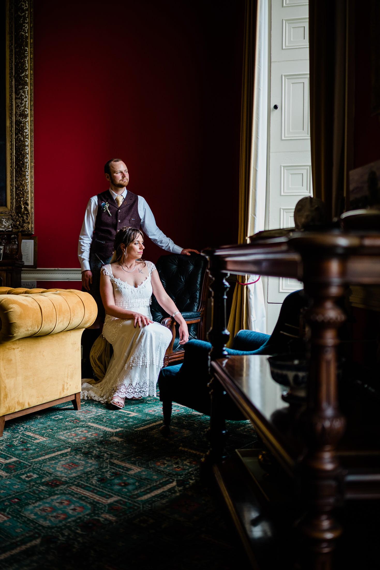 temple house wedding portrait